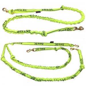 Vodítko s tlumičem pro psy nad 10-kg - neon zelené