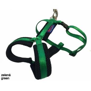 Postroj podšitý jednobarevný - tmavě zelený