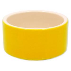 Miska keramická pro králíky - žlutá