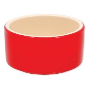 Miska keramická pro králíky - červená