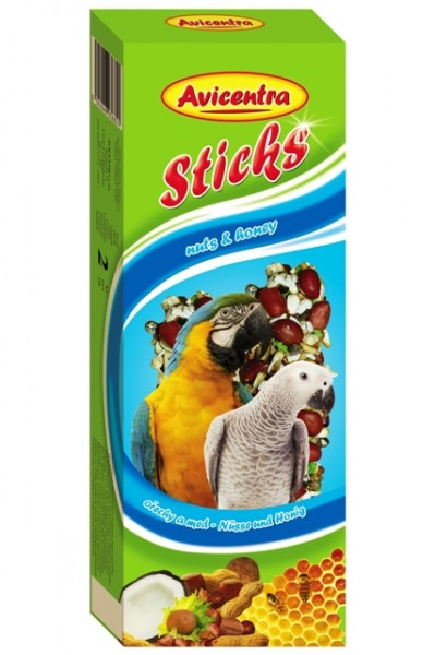 Avicentra tyč velký papoušek - ořech a kokos 2 ks