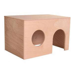Dřevěný domek s rovnou střechou
