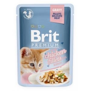 Brit Premium Cat 85 g kapsička - kuřecí ve šťávě kitten