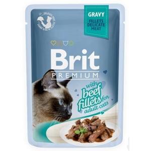 Brit Premium Cat 85 g kapsička - hovězí ve šťávě