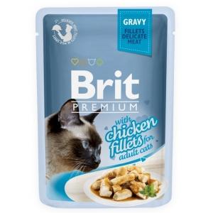 Brit Premium Cat 85 g kapsička - kuřecí ve šťávě