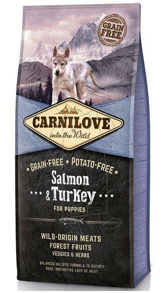 Carnilove Salmon & Turkey for Puppies (losos, krocan)