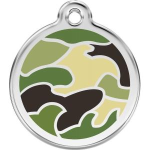 Identifikační známka - camouflage zelená