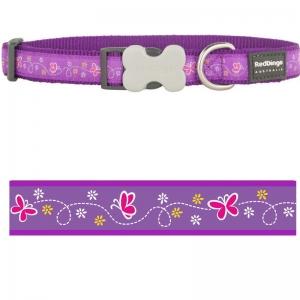 Obojek Red Dingo - Butterfly Purple