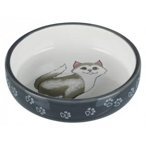 Keramická miska pro kočky s krátkým nosem