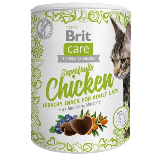 Brit Care Cat Snack Superfruits - Kuřecí