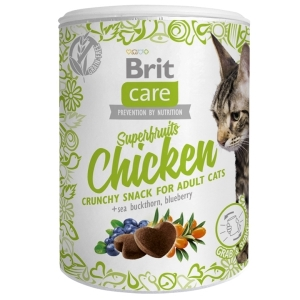Brit Care Cat Snack Superfruits - Kuřecí