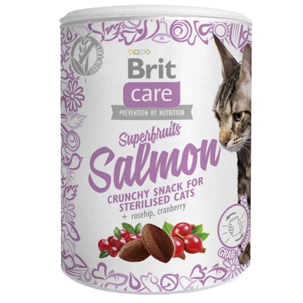Brit Care Cat Snack Superfruits - Lososové