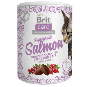 Brit Care Cat Snack Superfruits - Lososové