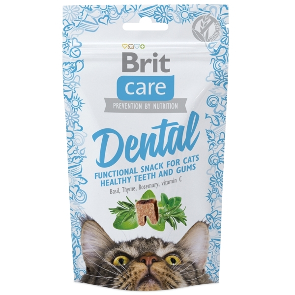 Brit Care Cat Snack Dental - Krůtí