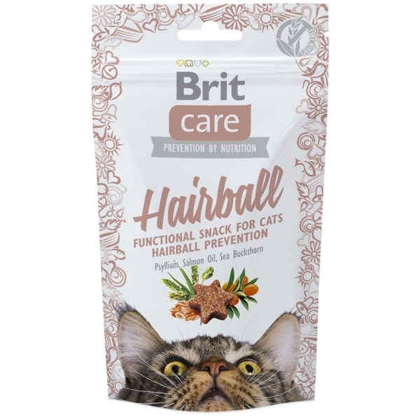Brit Care Cat Snack Hairball - Kachní