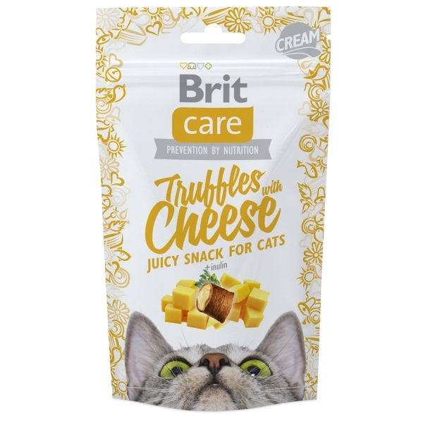 Brit Care Cat Snack Truffles Cheese - sýrové
