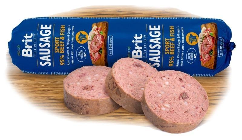 Brit sausage Sport Beef&Fish NEW