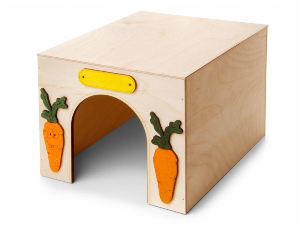 Domek Kvádr, dřevěný domek pro králíky