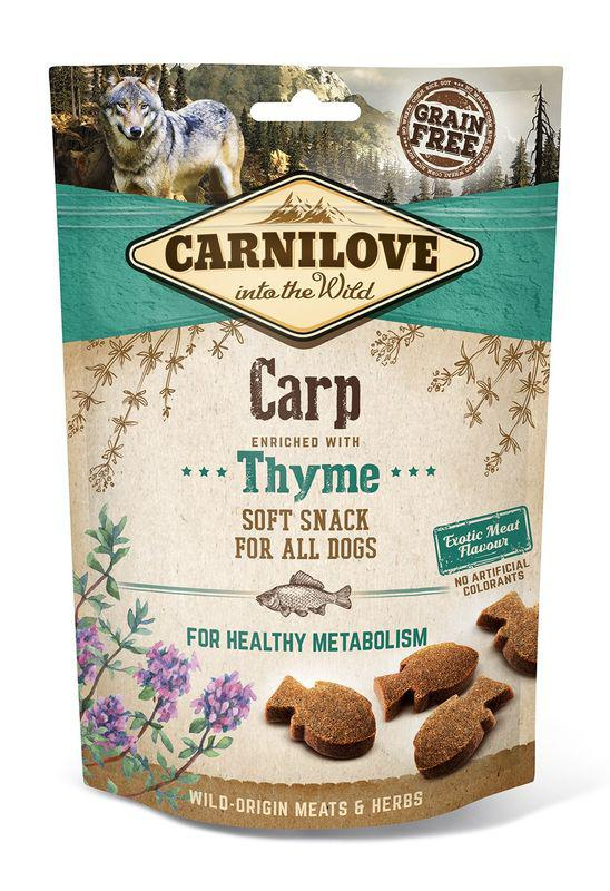 Carnilove Dog Soft Snack - Carp with Thyme (kapr a tymián)