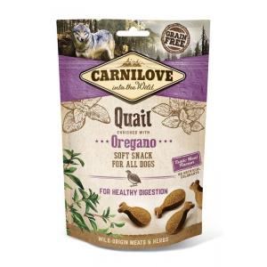 Carnilove Dog Soft Snack - Quail with Oregano (křepelka a oregáno)
