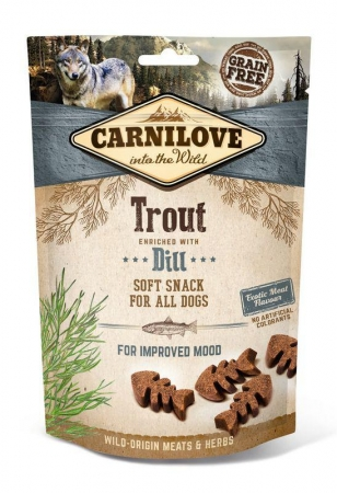 Carnilove Dog Soft Snack - Trout with Dill (pstruh a kopr)
