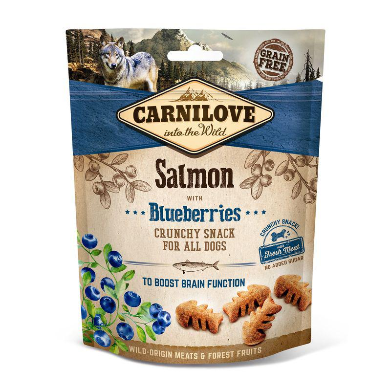 Carnilove Dog Crunch Snack - Salmon with Blueberries (losos a borůvky)