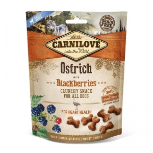 Carnilove Dog Crunchy Snack - Ostrich with Blackberries (pštros a ostružiny)