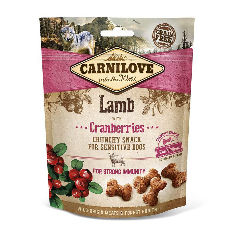 Carnilove Dog Crunchy Snack - Lamb with Cranberries (jehně a brusinky)