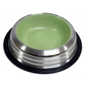 Miska nerez s gumou - zelená