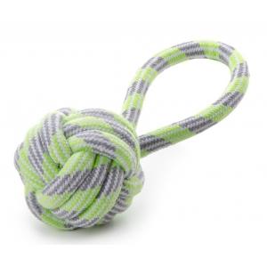 Přetahovadlo - míč házecí, bavlna - zelený