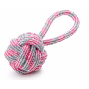 Přetahovadlo - míč házecí, bavlna - růžový