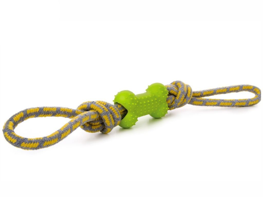 Přetahovadlo s TRP kostí - zelené