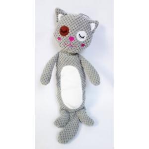 Kočka s pískátkem, plyšová