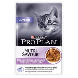 Proplan Cat kapsička Junior 85 g - s krůtou ve šťávě