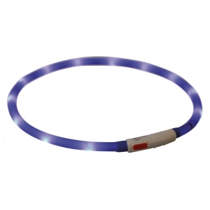 Obojek svítící XS-XL - modrý