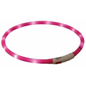 Obojek svítící XS-XL - růžový