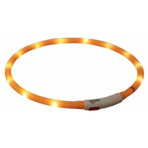 Obojek svítící XS-XL - oranžový