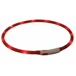 Obojek svítící XS-XL - červený
