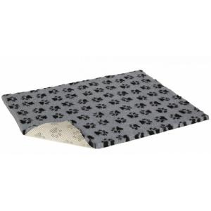 Vetbed Nonslip Drybed - šedá s tlapkami