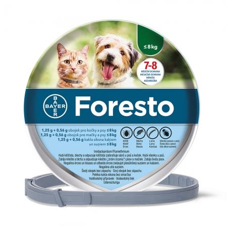 Foresto - antiparazitní obojek pro malé psy a kočky