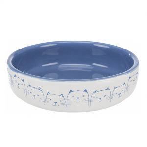 Keramická miska nízká, pro kočky s krátkým čumákem