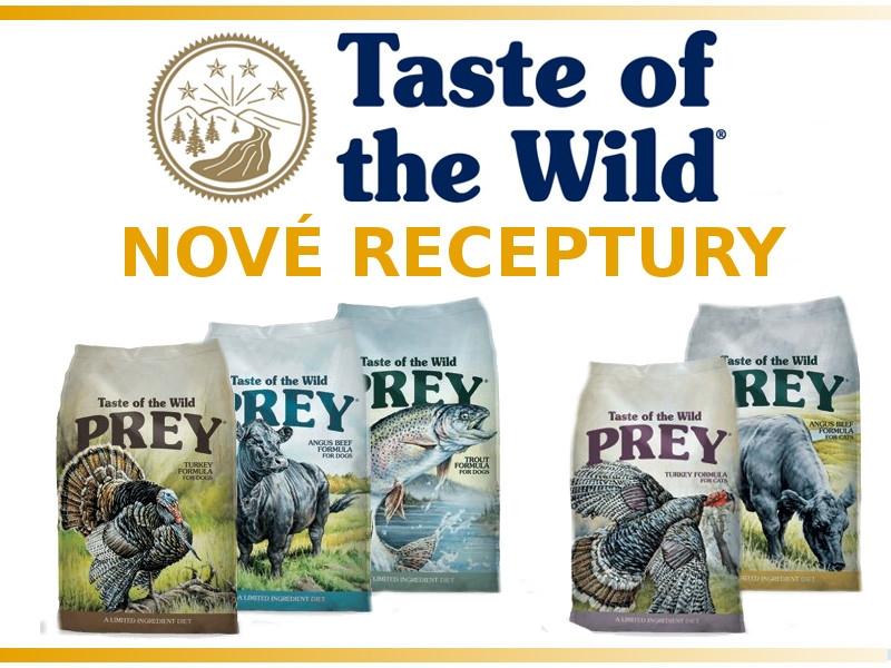 TASTE OF THE WILD - nové receptury