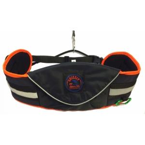 Opasek Grizzly s kapsou Zero, černý s neon oranžovým okrajem