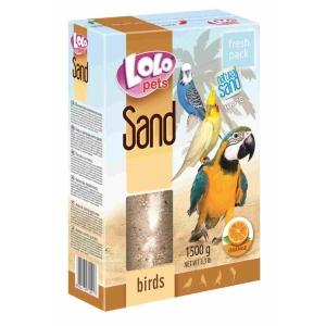 Písek pro ptáky LoloPets - s pomerančem