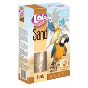 Písek pro ptáky LoloPets - s mušlemi