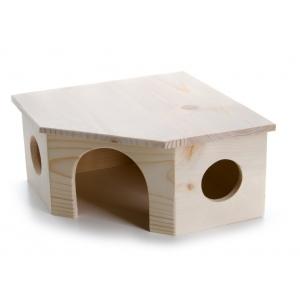 Domek dřevěný - rohový