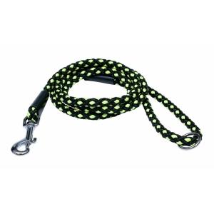 Vodítko lanové Uzlík - černo-zelené