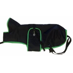 Pláštěnka černá s barevným lemem - zelený
