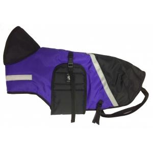 Pláštěnka barevná s reflexním pruhem - fialová