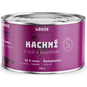 Louie konzerva pro kočky kachní s rýží a taurinem